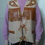 Gilet Western Homme (suédine et cuir)