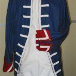 Garde Suisse veste longue bleue ou rouge et culotte blanche (20€)